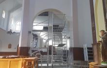 Parafia Miłosierdzia Bożego w Pabianicach - malowanie kościoła  - styczeń - luty 2021