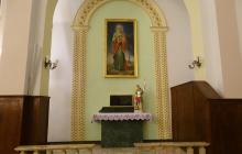 Parafia Miłosierdzia Bożego  w Pabianicach- malowanie kościoła  - styczeń - luty 2021